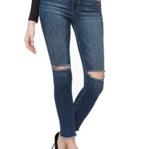 NWT Good American crop fray hem jeans